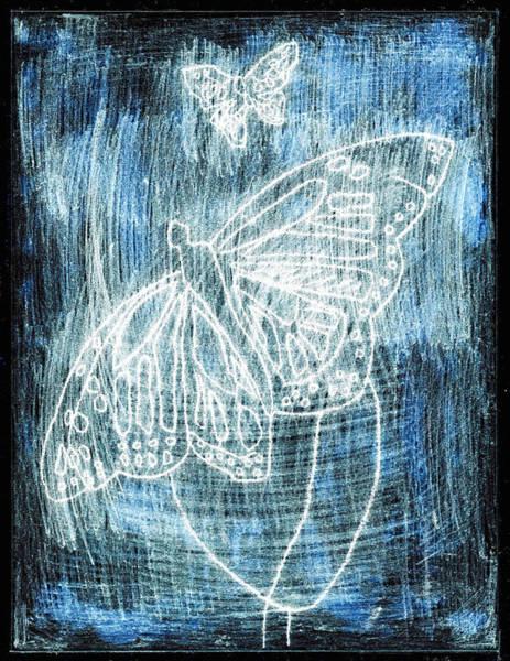 Digital Art - Butterfly Garden At White Night 8 by Artist Dot