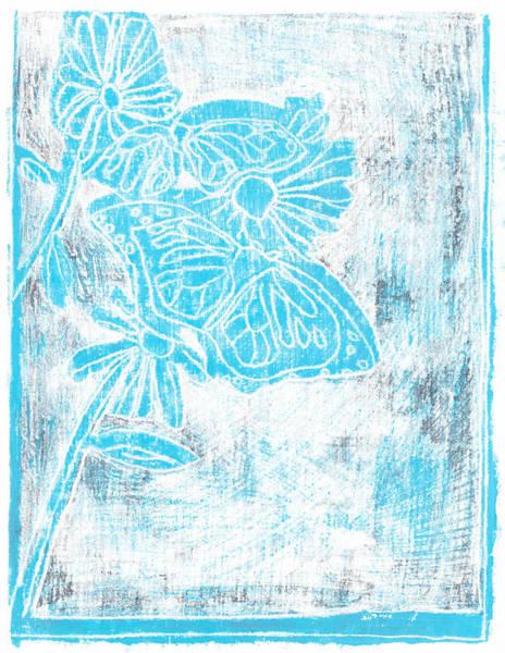 Painting - Butterfly Garden Blue Summer 8 by Artist Dot