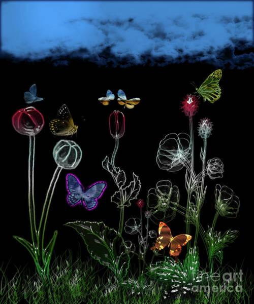 Digital Art - Butterfly Garden Artwork by Carlos Diaz