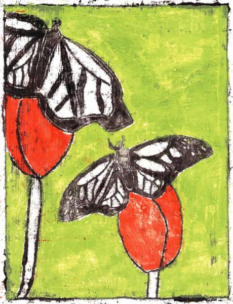 Painting - Butterfly Garden Summer 11 by Artist Dot