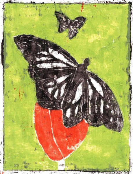 Painting - Butterfly Garden Summer 14 by Artist Dot