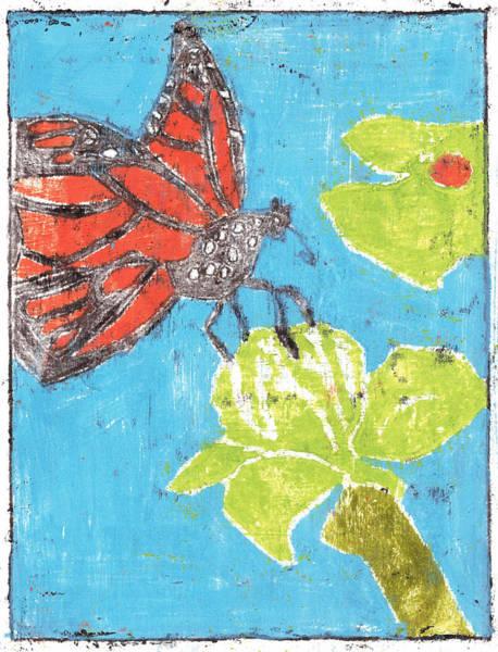 Painting - Butterfly Garden Summer 20 by Artist Dot