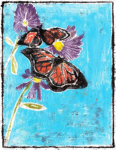Painting - Butterfly Garden Summer 3 by Artist Dot