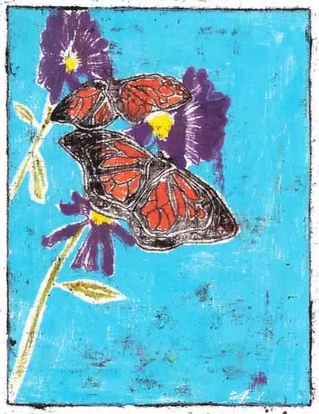 Painting - Butterfly Garden Summer 4 by Artist Dot