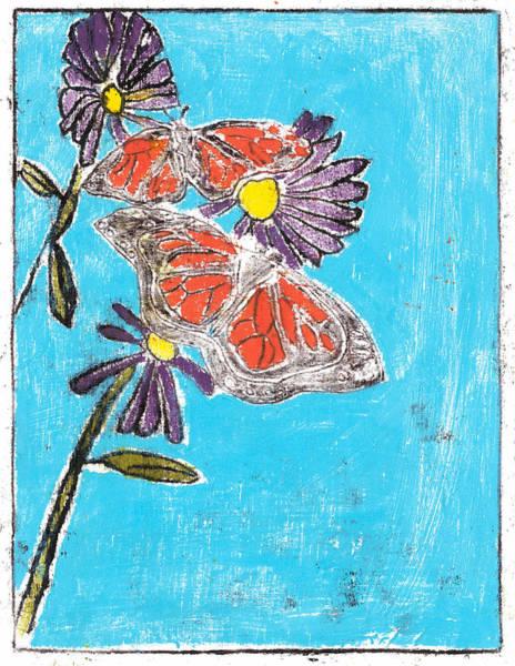 Painting - Butterfly Garden Summer 5 by Artist Dot