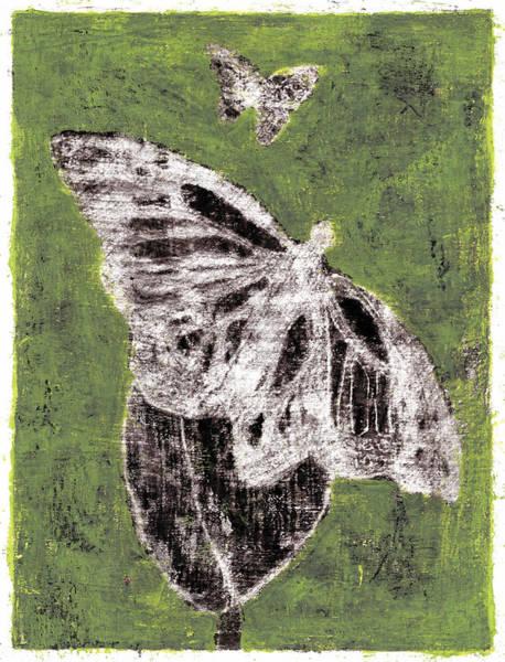 Painting - Butterfly Green Garden Summer 15 by Artist Dot