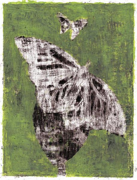 Painting - Butterfly Green Garden Summer 18 by Artist Dot
