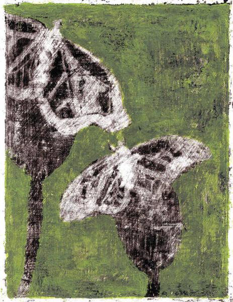 Painting - Butterfly Green Garden Summer 9 by Artist Dot