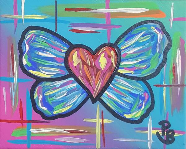 Wall Art - Painting - Butterfly Love 2 Mini by Parker Beaudoin