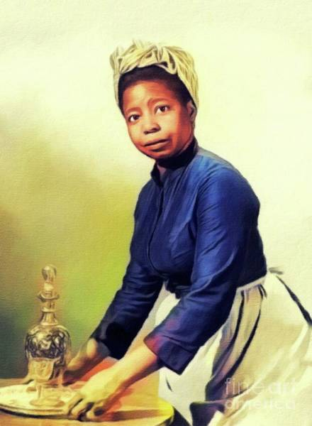 Wall Art - Painting - Butterfly Mcqueen, Vintage Actress by John Springfield
