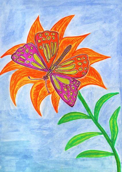 Painting - Butterfly On The Flower by Irina Dobrotsvet