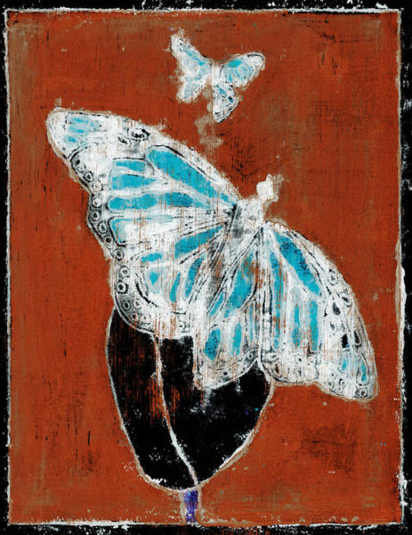 Painting - Butterfly Red And Black 1 by Artist Dot