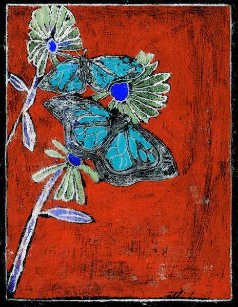 Painting - Butterfly Red And Black 10 by Artist Dot