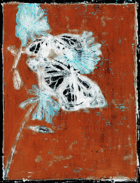 Painting - Butterfly Red And Black 11 by Artist Dot