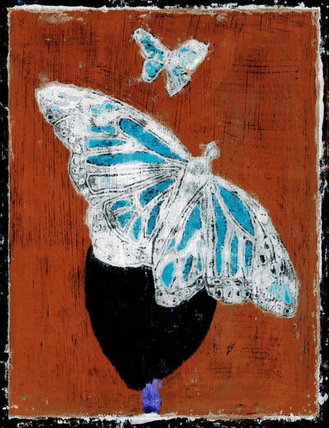 Painting - Butterfly Red And Black 2 by Artist Dot