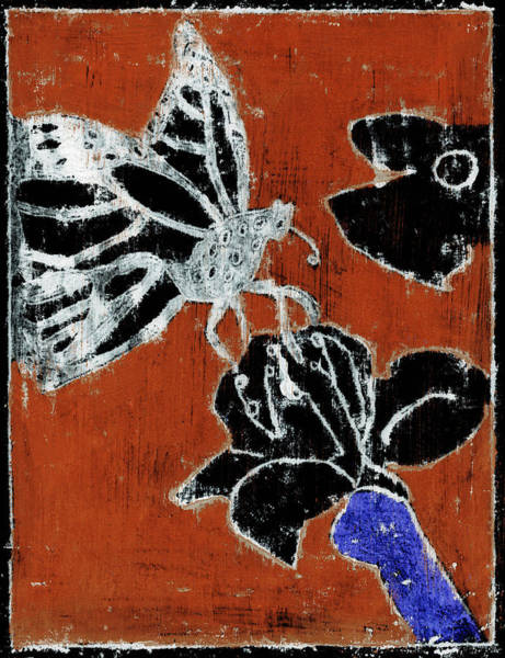 Painting - Butterfly Red And Black 3 by Artist Dot