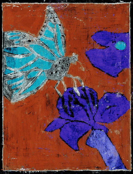 Painting - Butterfly Red And Black 5 by Artist Dot