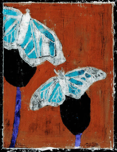 Painting - Butterfly Red And Black 6 by Artist Dot