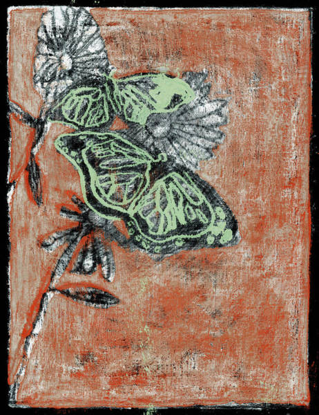 Painting - Butterfly Red And Black 7 by Artist Dot