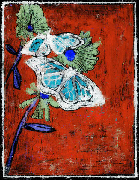 Painting - Butterfly Red And Black 8 by Artist Dot
