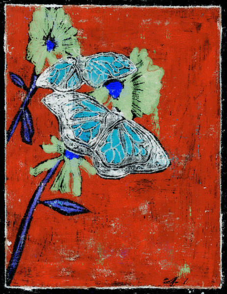 Painting - Butterfly Red And Black 9 by Artist Dot