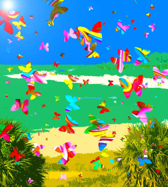 Wall Art - Painting - Butterfly Summer by David Lee Thompson