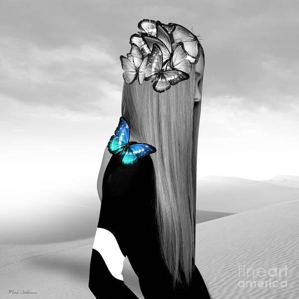 Wall Art - Pyrography - Butterfly Woman  by Mark Ashkenazi