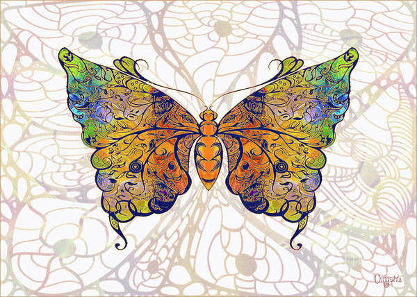 Digital Art - Butterfly Zen Meditation Abstract Digital Mixed Media Artwork By Omaste Witkowski by Omaste Witkowski