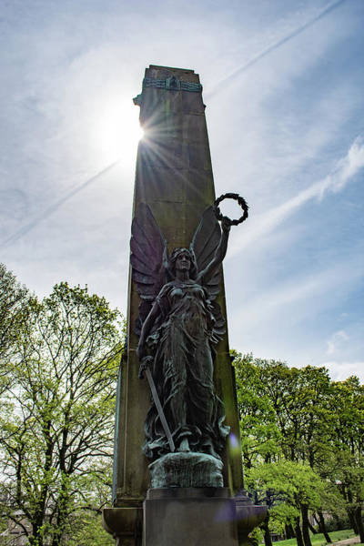 Photograph - Buxton War Memorial Sun Behind by Scott Lyons