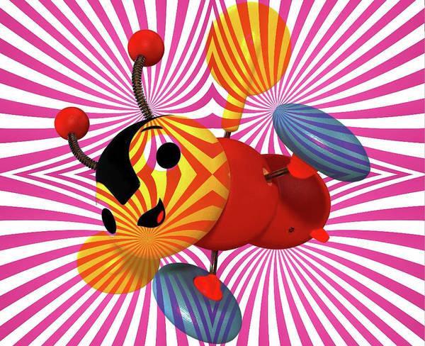 Buzzie Bee Icon Art Print