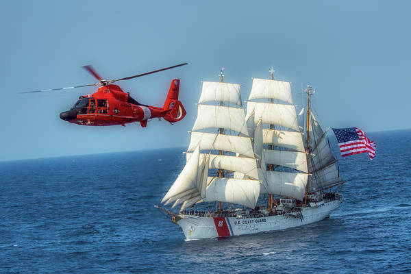 Wall Art - Photograph - By Air And Sea by U S Coast Guard  David Lau