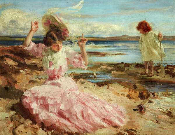 Wall Art - Painting - By Summer Seas, 1904 by Charles Sims