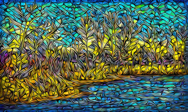Digital Art - By The Crystalline Waters by Joel Bruce Wallach