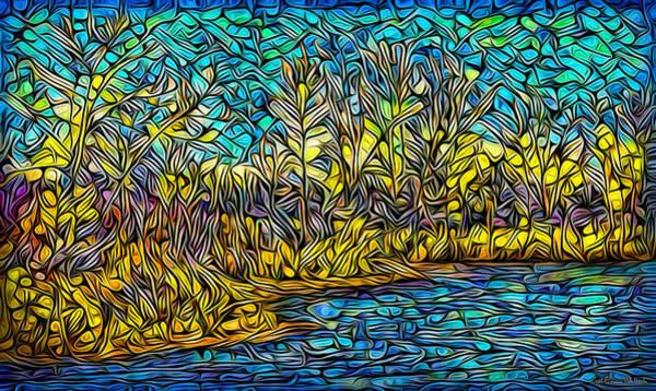 Digital Art - By The Crystalline Waters by Joel Bruce Wallach