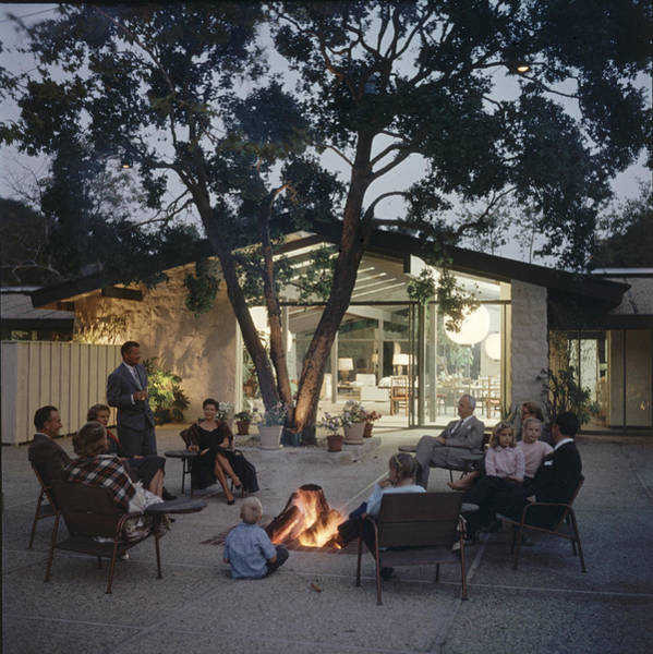 Patio Photograph - By The Patio Fire Pit by Gordon Parks