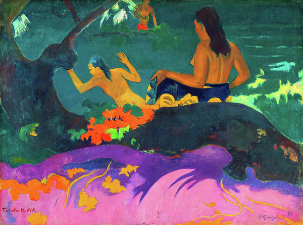 Gauguin Painting - By The Sea - Digital Remastered Edition by Paul Gauguin