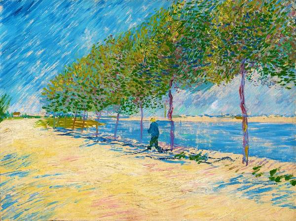 Wall Art - Painting - By The Seine - Digital Remastered Edition by Vincent van Gogh