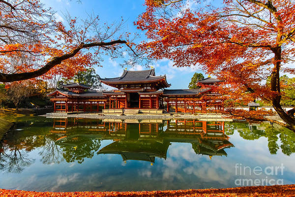 Travel Destinations Wall Art - Photograph - Byodo-in Temple. Kyoto,buddhist Temple by Somsak Nitimongkolchai