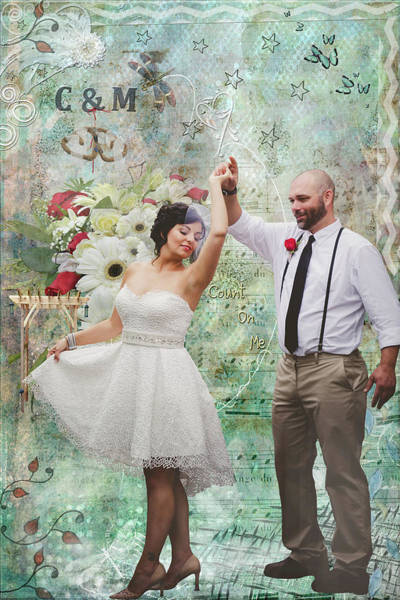 Digital Art - Wedding Memoir Montage 1 by Jacqui Boonstra