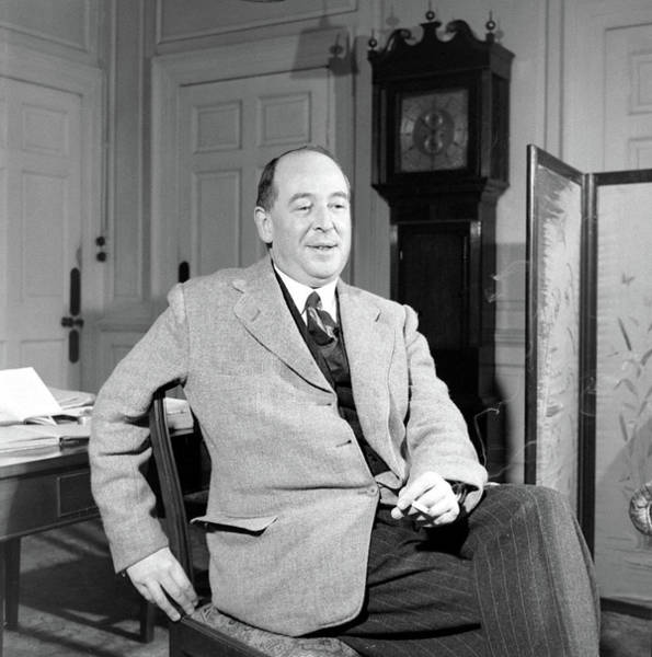 Knees Wall Art - Photograph - C. S. Lewis In His Study In Oxford by Hans Wild