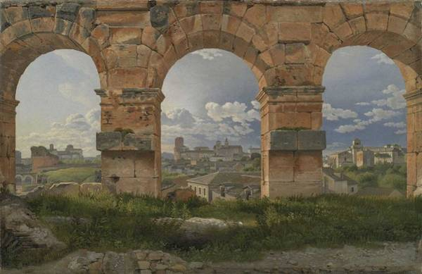 Wall Art - Painting - C. W. Eckersberg, A View Through Three Arches Of The Third Storey Of The Colosseum,1815 by Celestial Images