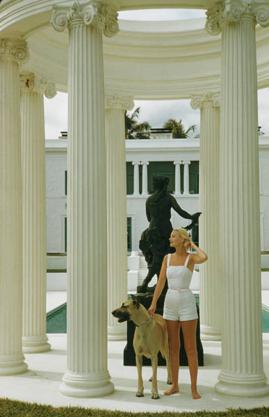 Usa State Photograph - C. Z. Guest by Slim Aarons