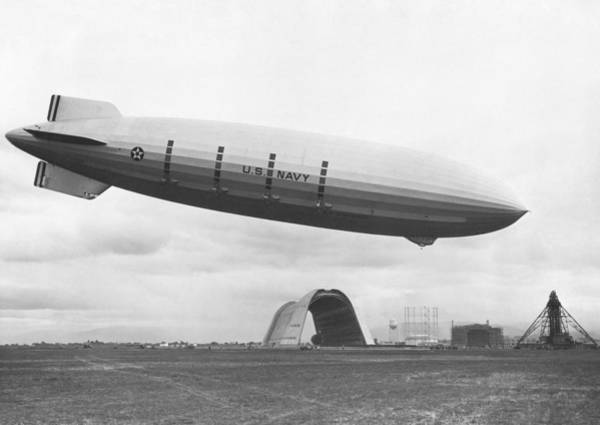 Wall Art - Painting - Ca Uss Macon At North Circle Nasa Sunnyvale, Mt View. by Celestial Images