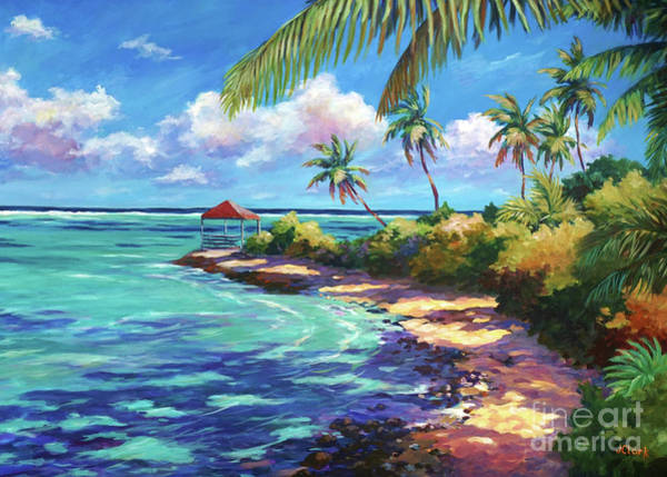 Wall Art - Painting -  Cabana Near Over The Edge by John Clark