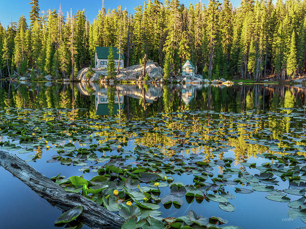 Photograph - Cabin By The Lake by Leland D Howard