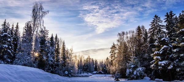 Lillehammer Photograph - Cabin In The Winter Woods by Espen Brustuen