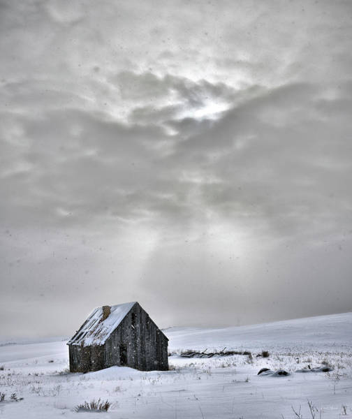 Photograph - Cabin In Winter by Leland D Howard