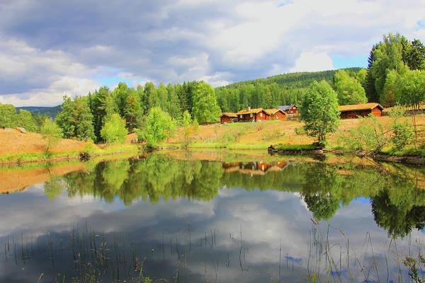 Lillehammer Photograph - Cabins In Maihaugen Open-air Folk Museum Lillehammer, Norway by Patricia Isaman