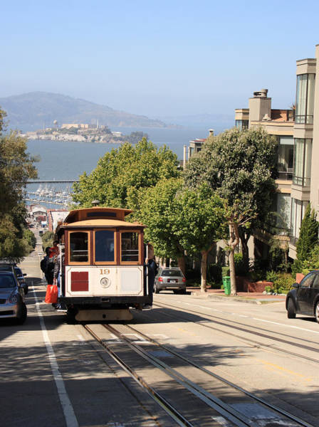 Public Land Photograph - Cable Car In San Francisco by Tomograf