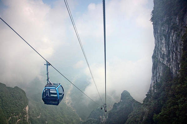 Photograph - Cable Car In Tianmen Forest National by Ed Freeman